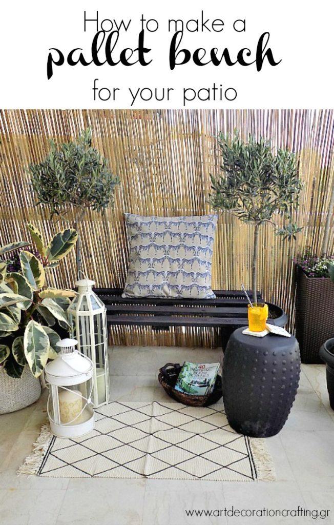 Πως έφτιαξα ένα παγκάκι για την βεράντα μας από μία παλέτα | How to make a pallet bench for your patio