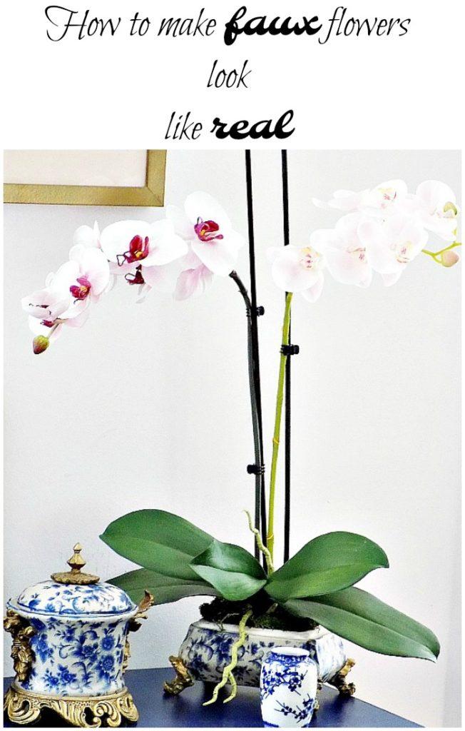 Ψεύτικες ορχιδέες, πως να φαίνονται σαν αληθινές, How to make faux flowers look like real