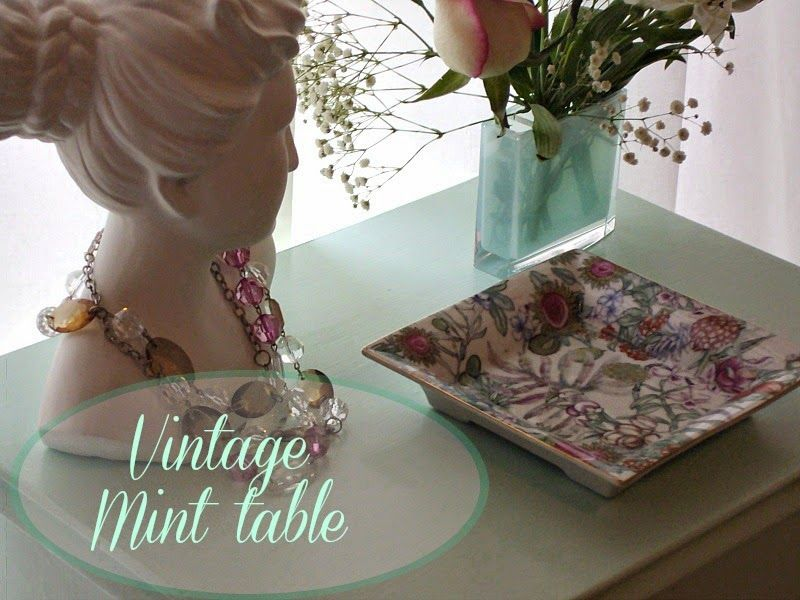 Guest post, Vintage mint table makeover