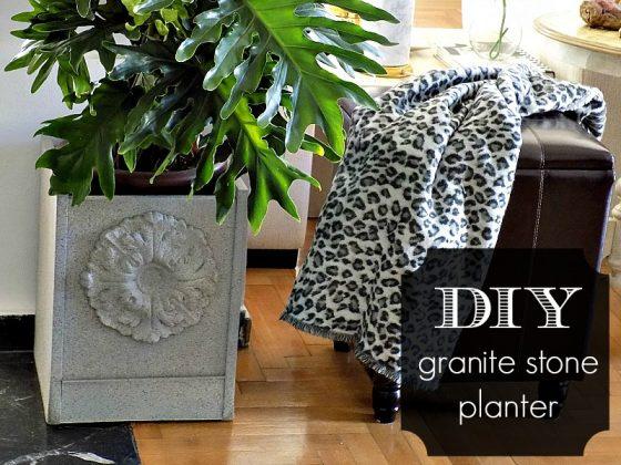 Πέτρινη ζαρντινιέρα από σκαμπό | Granite stone planter diy