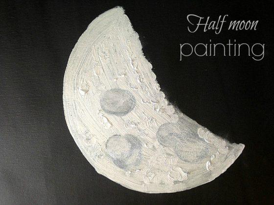 Φεγγάρι, ένας μίνιμαλ diy πίνακας