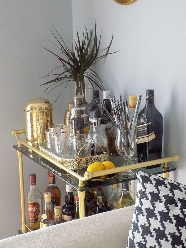 Μπαρ στο σπίτι, Bar cart diy