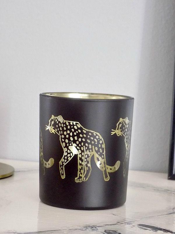 Leopard votive H&M Home