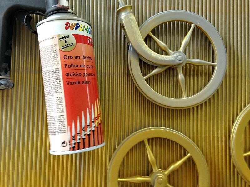 Gold foil spray paint