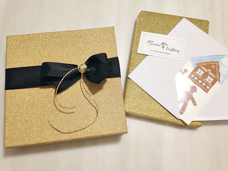 Gold glitter wrapping paper