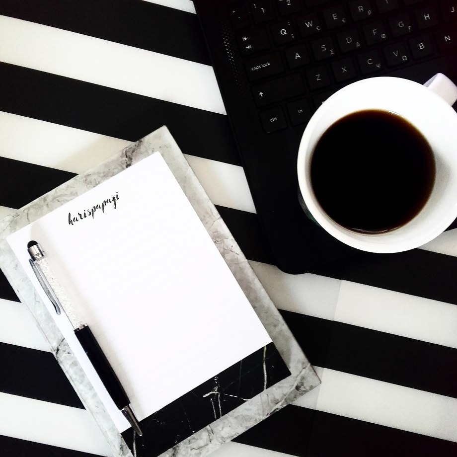 Marble personalized notepad
