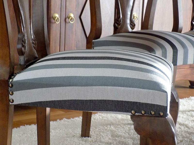 Καρέκλες τραπεζαρίας με καινούργιο ύφασμα