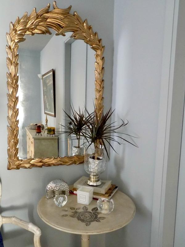 Gold antique mirror