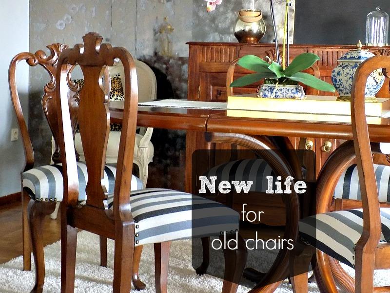 Κλασσικές καρέκλες τραπεζαρίας αλλάζουν εμφάνιση   How to give a modern look to old dinging chairs