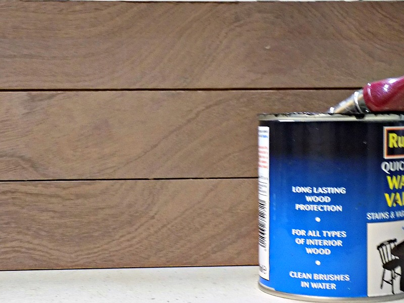 Walnut varnish on plywood