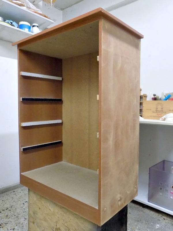 Sanding an old dresser