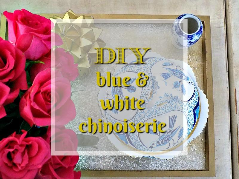 Vintage φοντανιέρα σε μπλε και άσπρο