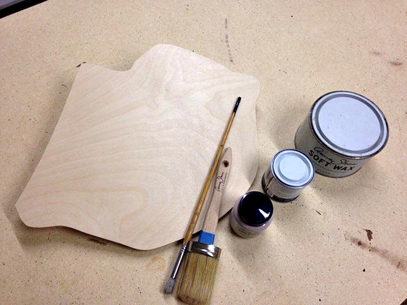 Annie Sloan chalk paint, clear wax