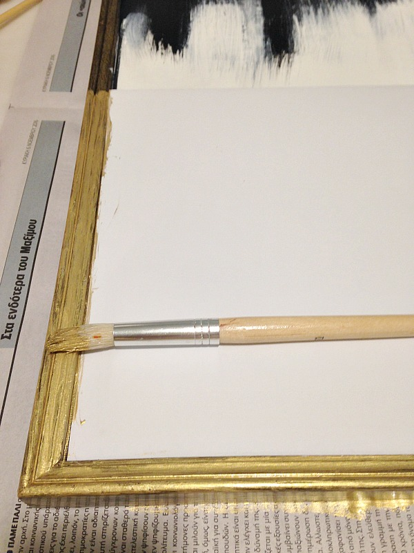 Gold frame diy