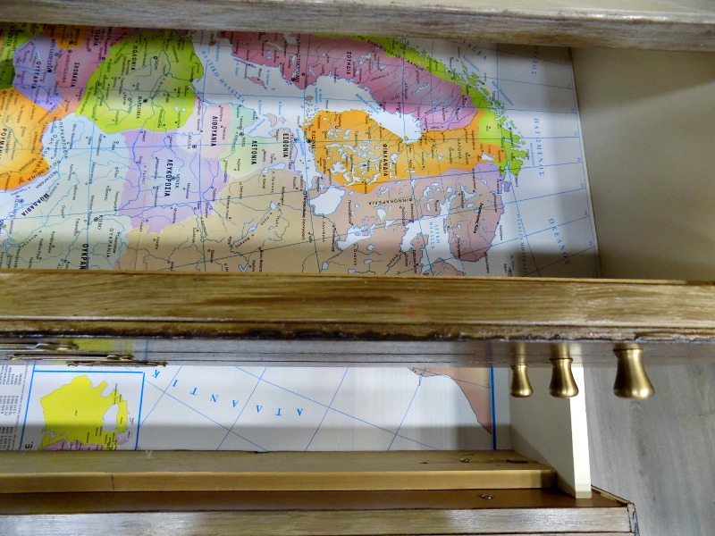 Map lined drawers