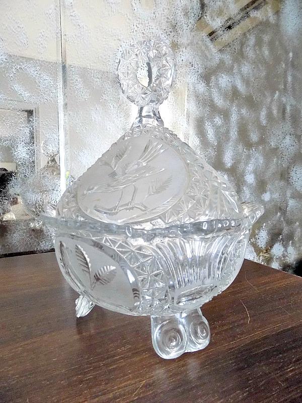 vintage κρυστάλλινη φοντανιέρα