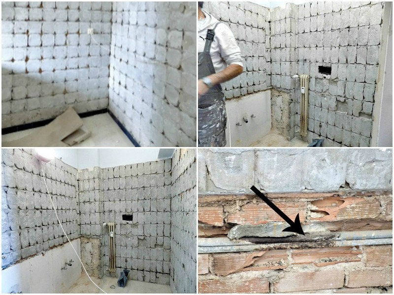 Ανακαίνιση του μπάνιου στο σπίτι, Works in progress, master bathroom renovation