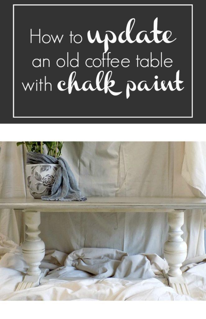 Ανανέωση για ένα παλιό τραπέζι με χρώματα κιμωλίας, How to update an old coffee table with chalk paint