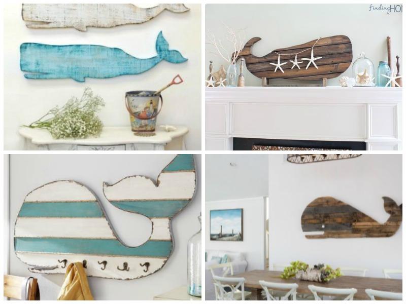 Ξύλινες διακσομητικές φάλαινες