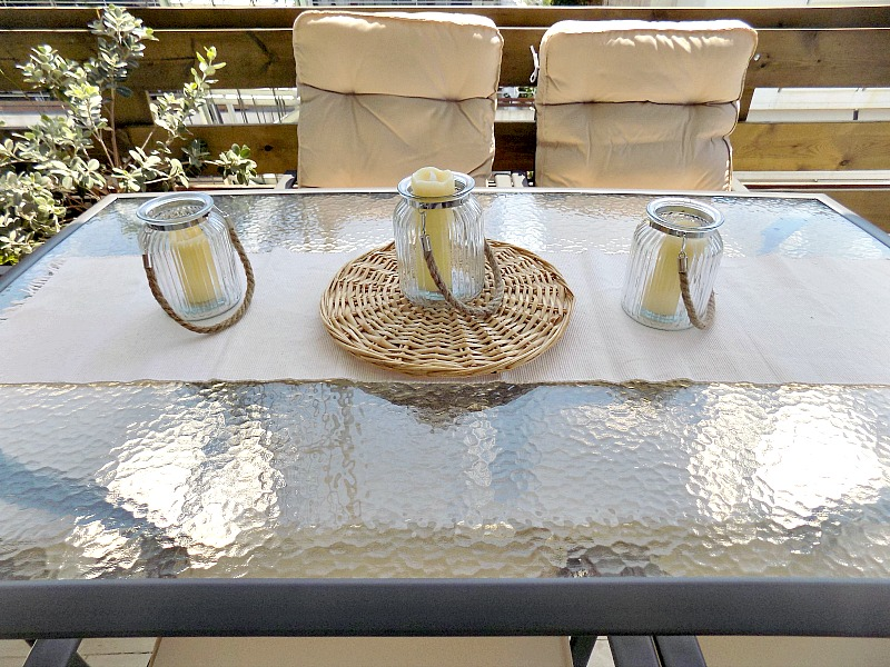 New outdoor dining room set
