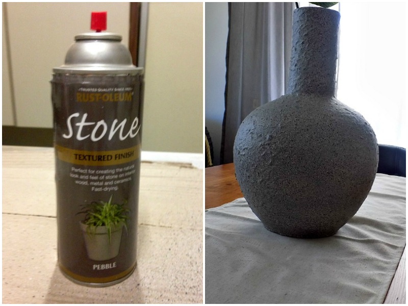 Rust-Oleum stone effect spray