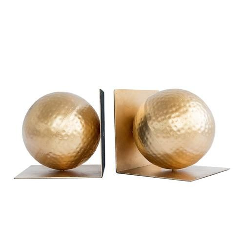 Gold sphere bookends