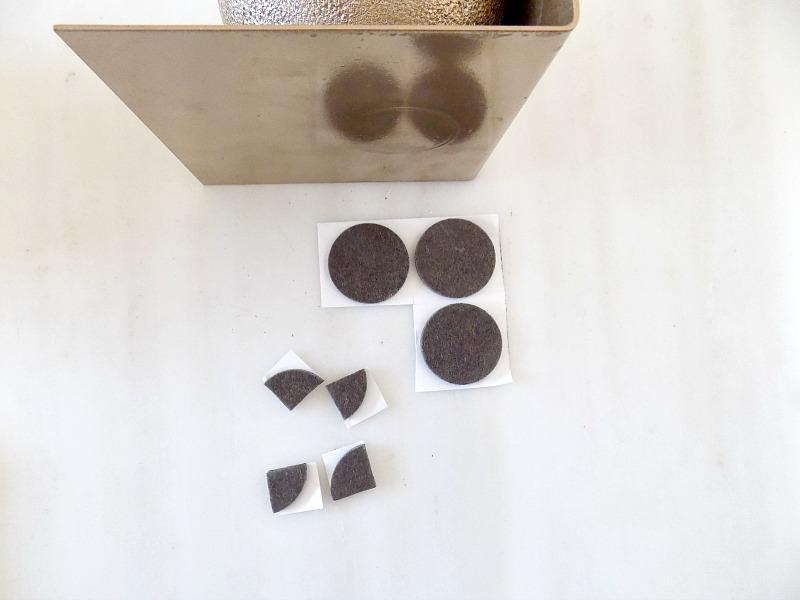 Βιβλιοστάτες χρυσές σφαίρες diy, adhesive felt pads