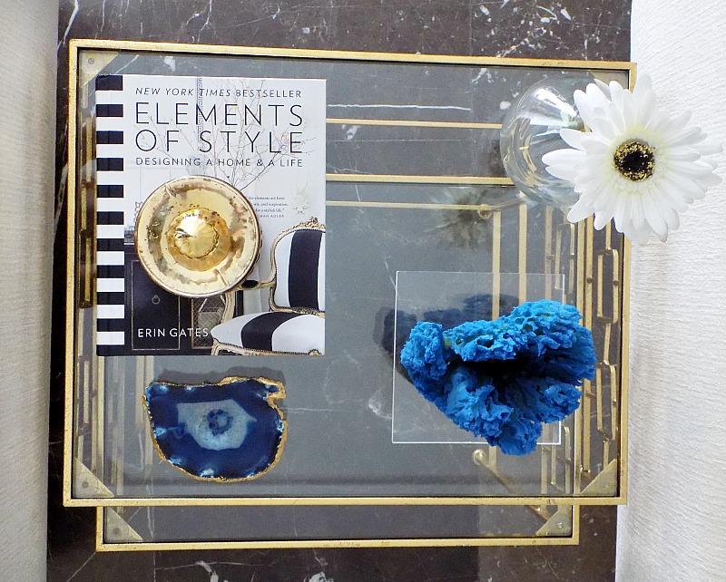 Μπλε κοράλλι diy σε βάση πλεξιγκλας, φέτα αχάτη