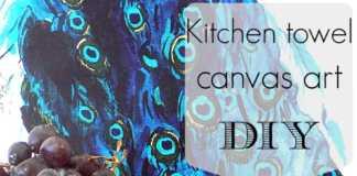 Πετσέτα κουζίνας σαν έργο τέχνης για τον τοίχο