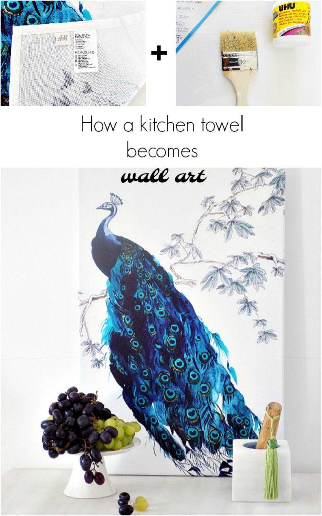 Πως πολύ γρήγορα και εύκολα μια όμορφη πετσέτα για την κουζίνα έγινε ένας εξίσου όμορφος καμβάς για τον τοίχο.