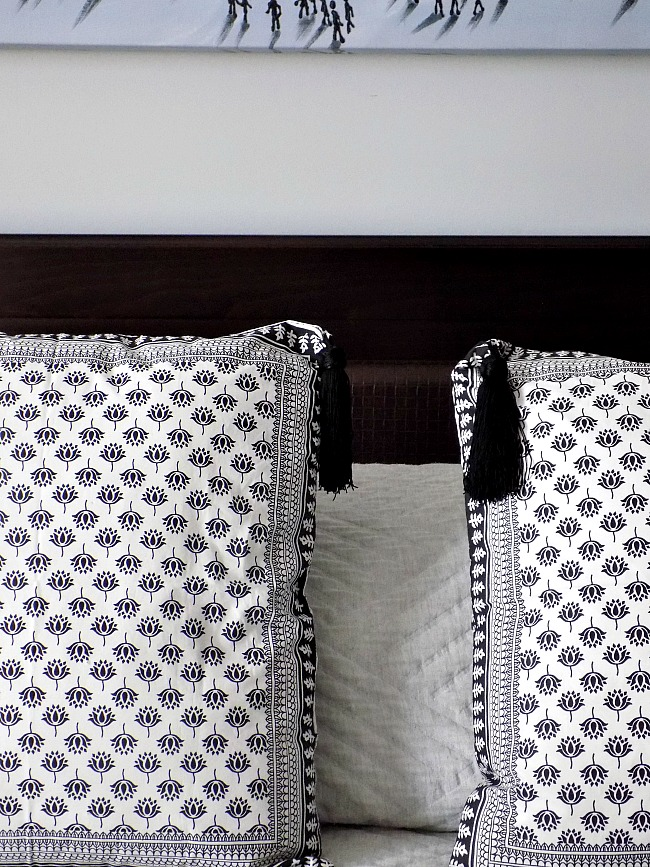 Black and white pillow covers diy with tassels
