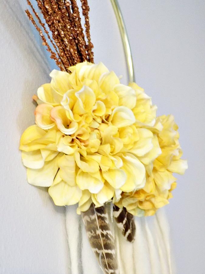 Φθινοπωρινό στεφάνι boho style