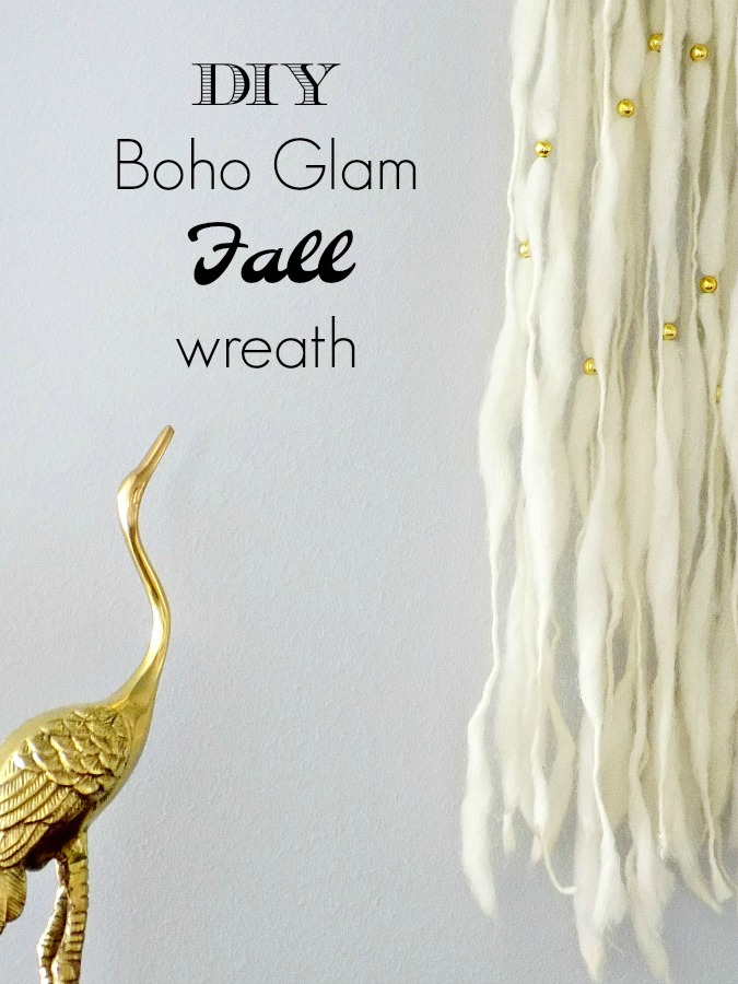 Boho glam φθινοπωρινό στεφάνι