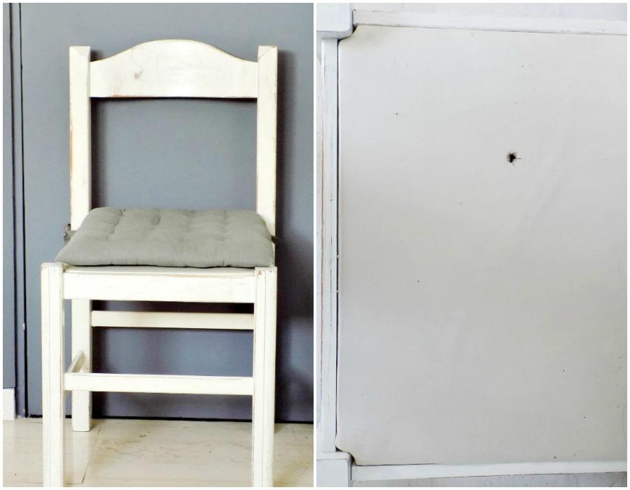 Old damaged upholstery