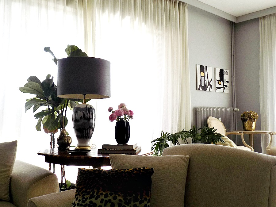 Faux leather lampshade diy