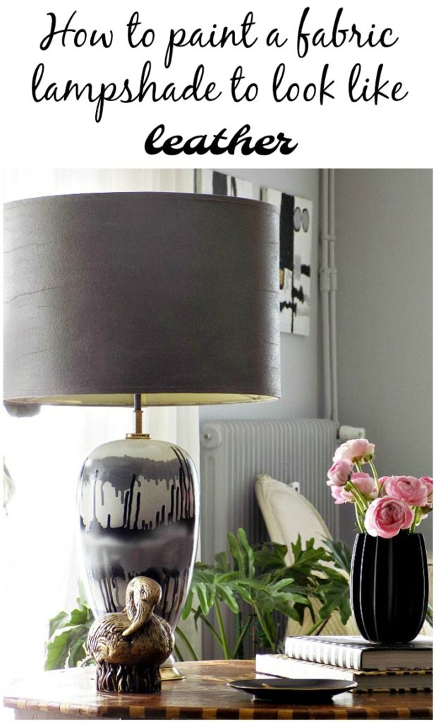 How to paint a fabric lampshade to look like leather | Οδηγίες για το πως να βάψεις ύφασμα με μπογιά κιμωλίας