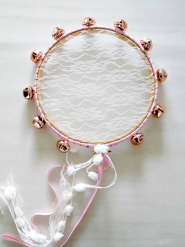 Jingle lace tambourine diy