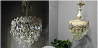 Ανανέωση φωτιστικών με chalk paint