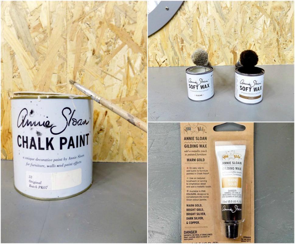 Ανανέωση παλιών πολυελαίων, Paints and waxes used on the small chandelier