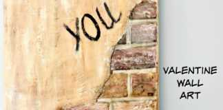 Valentine wall art - Ένα σύνθημα στον τοίχο