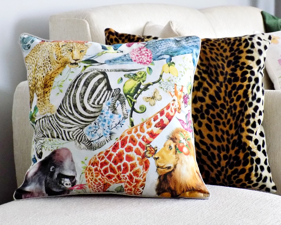 Zara Home Zoo pillow, Leopard pillow