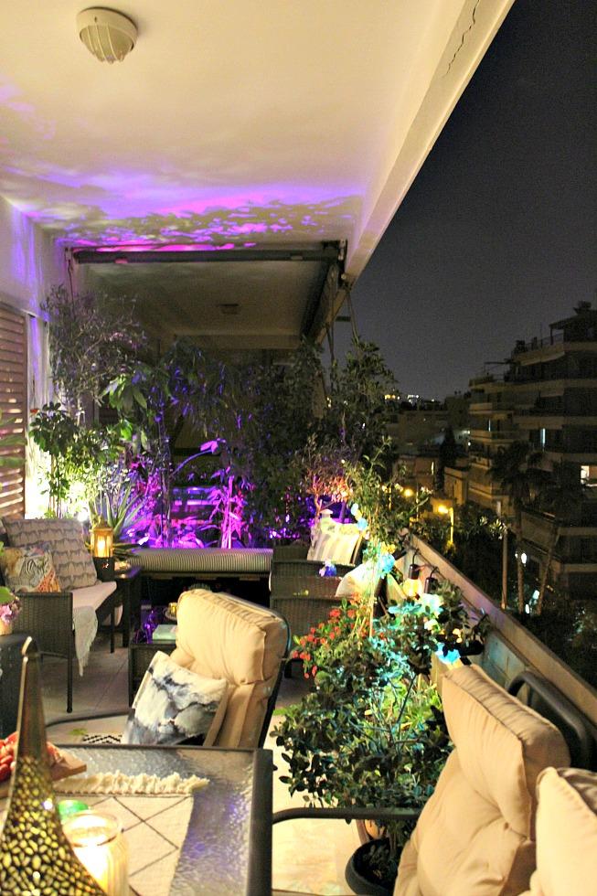 Balcony night view