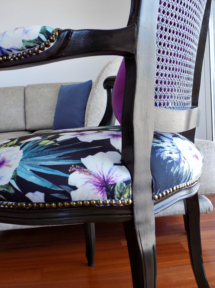 French cane chair makeover