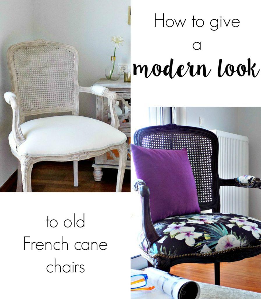 ArtDecorationCrafting Μεταμόρφωση παλιάς πολυθρόνας French cane chairs makeover
