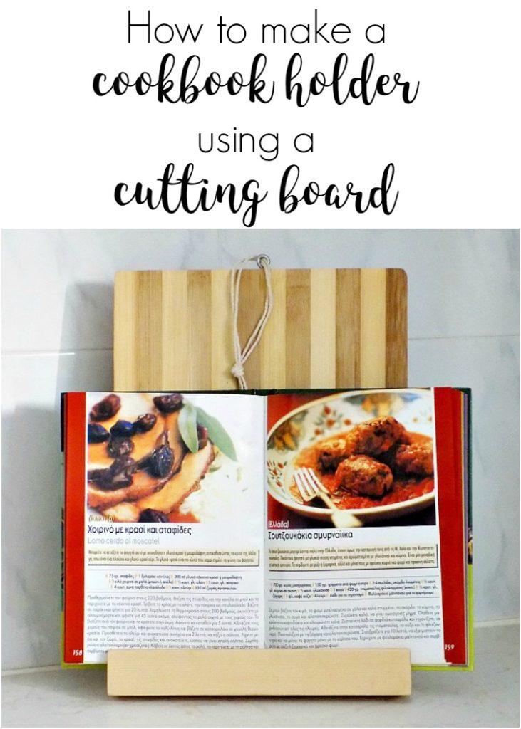 Πως ένα ξύλο κοπής γίνεται βάση για βιβλία μαγειρικής
