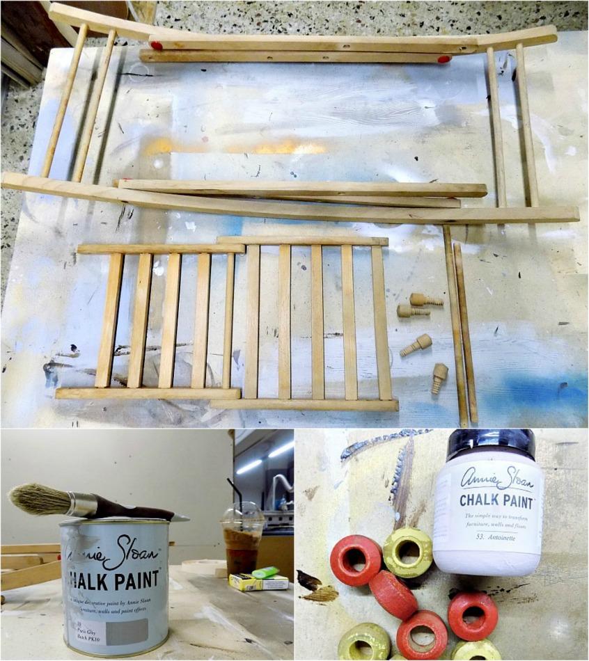 Ανανέωση σε ένα παλιό ξύλινο αλογάκι με μπογιά κιμωλίας