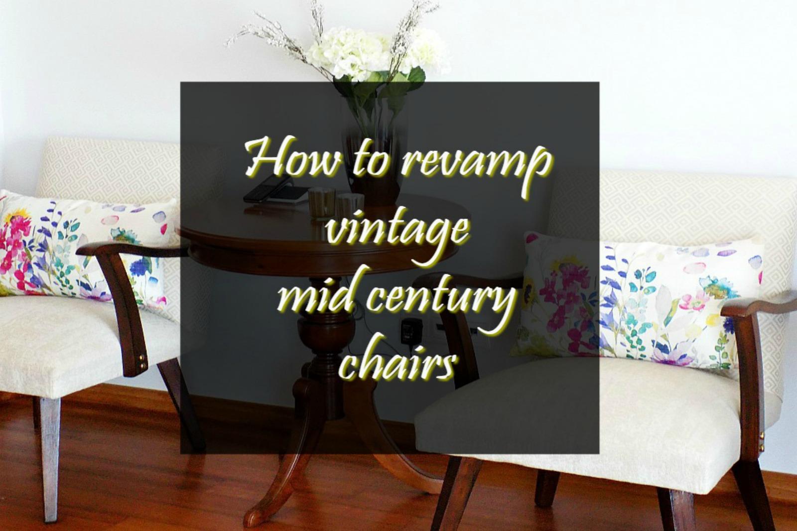 Mid-century πολυθρόνες αλλάζουν εμφάνιση   How to revamp mid-century chairs