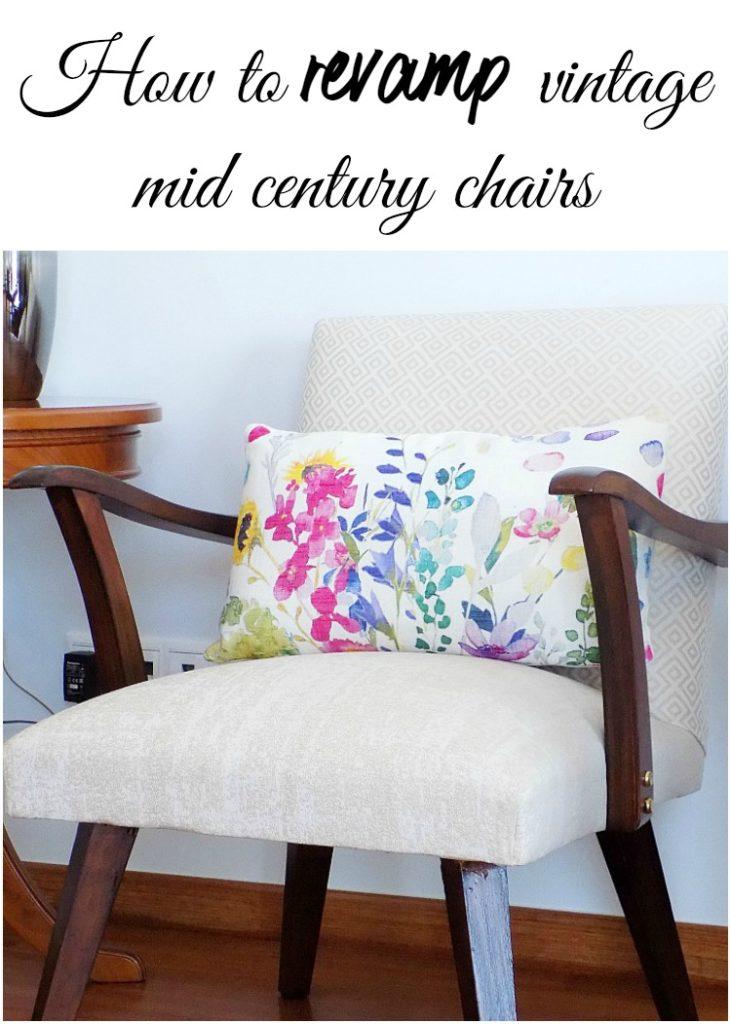 Δύο mid-century πολυθρόνες που ο χρόνος είχε αφήσει έντονα τα σημάδια πάνω τους με πολύ φροντίδα κι αγάπη άλλαξαν εμφάνιση και λάμπουν ξανά | How to revamp mid-century chairs