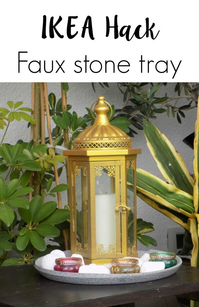 Πως να μεταμορφώσεις ένα παλιό δίσκο ΙΚΕΑ να μοιάζει πέτρινος | Ikea hack how to make a faux stone tray