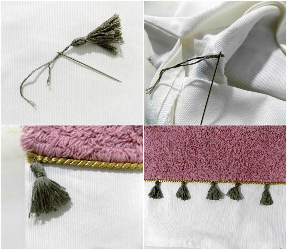 Mini tassels on pillow cover
